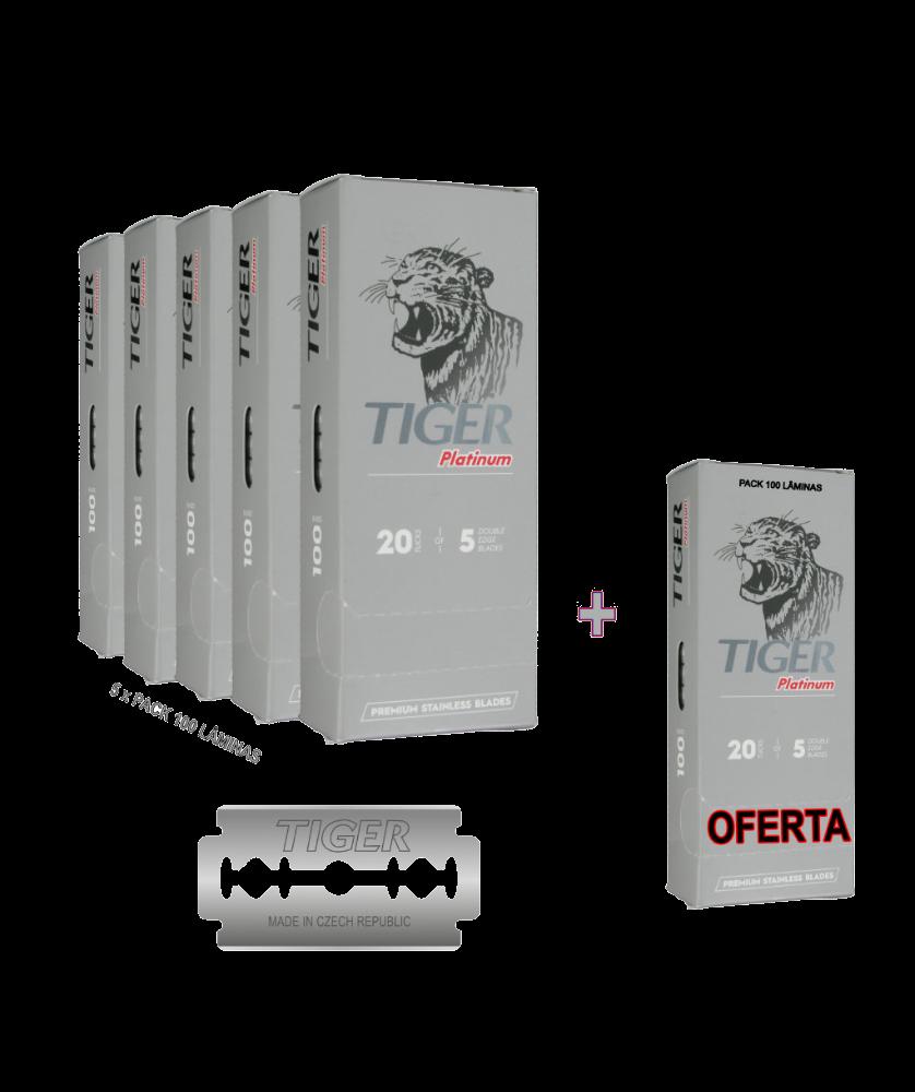 Imagem de Lâminas Tiger Platinum Pack Promocional