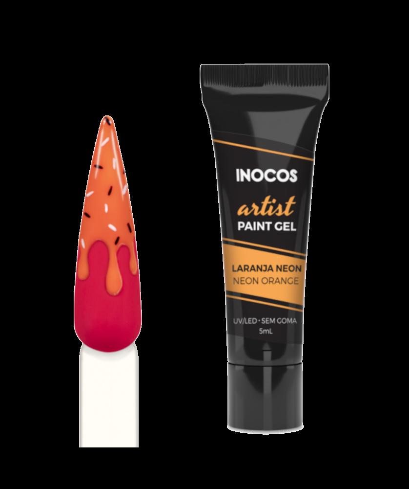 Imagem de Paint Gel Artist Maria Doce Verão Inocos Orange Neon 5ml