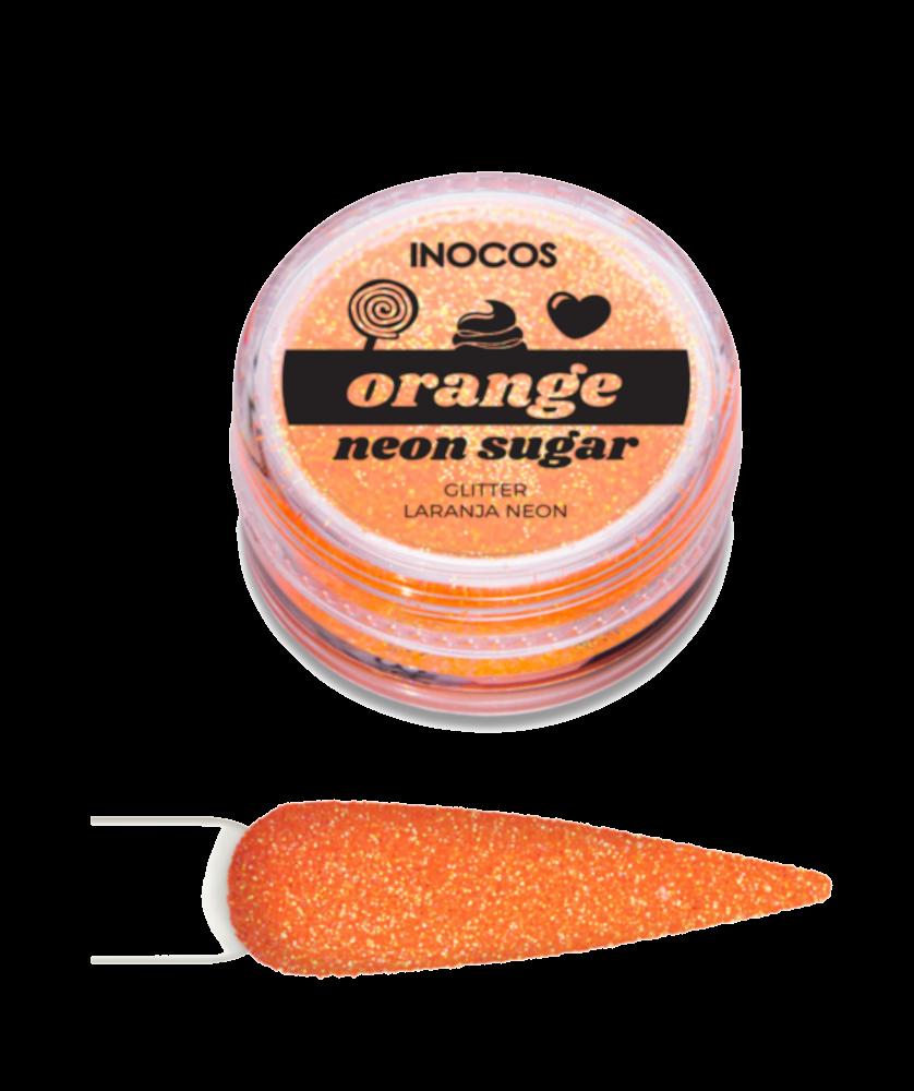 Imagem de Pó Glitter Maria Doce Verão Orange Neon Sugar Inocos 3g
