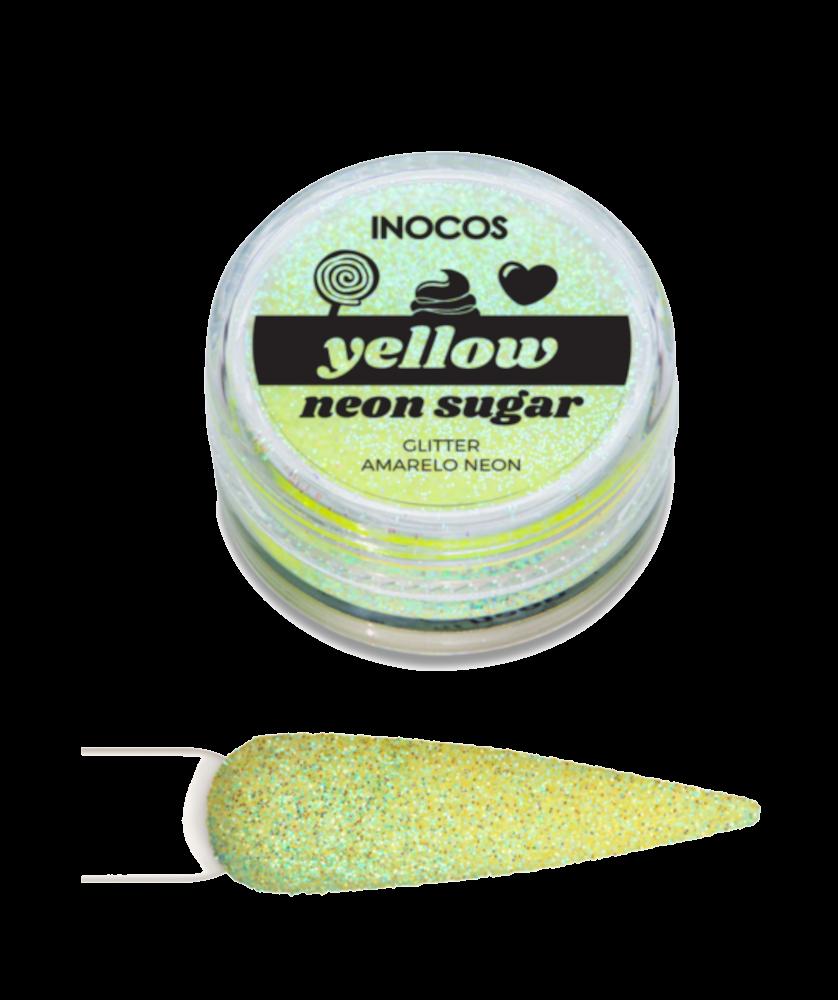 Imagem de Pó Glitter Maria Doce Verão Yellow Neon Sugar Inocos 3g